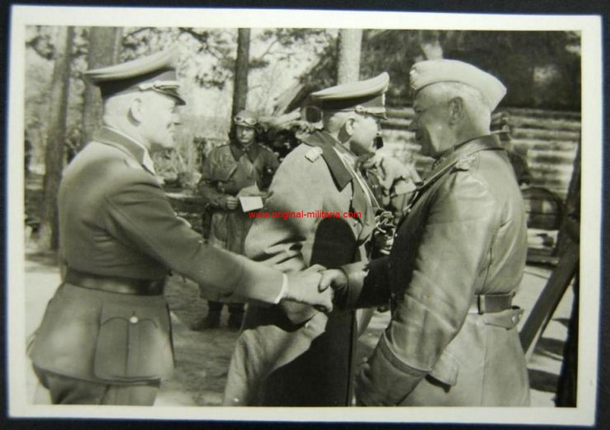 Foto Original Privada del Generalfeldmarschall Reichenau y el Generaloberts Guderian